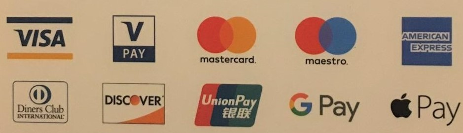 Credit / Debit cards now accepted